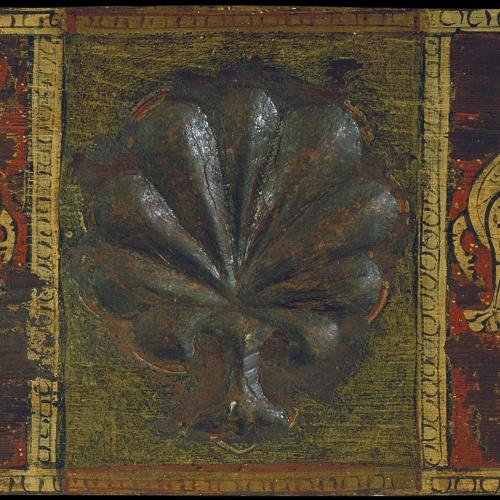Anònim. Catalunya - Taula d'enteixinat amb palmeta i animals fantàstics - Cap a 1300