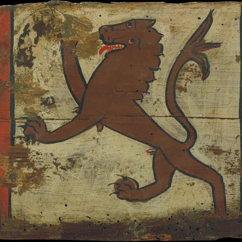 Anònim. Castella - Tauleta d'enteixinat amb lleó rampant - Primera meitat del segle XIV