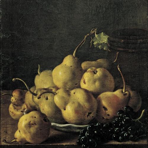 Luis Egidio Meléndez - Natura morta amb peres i raïm - Cap a 1771