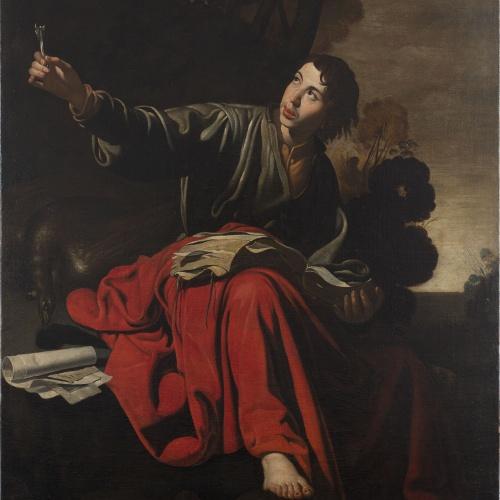 Anònim. Andalusia - Sant Joan Evangelista a Patmos - Entre 1616-1625
