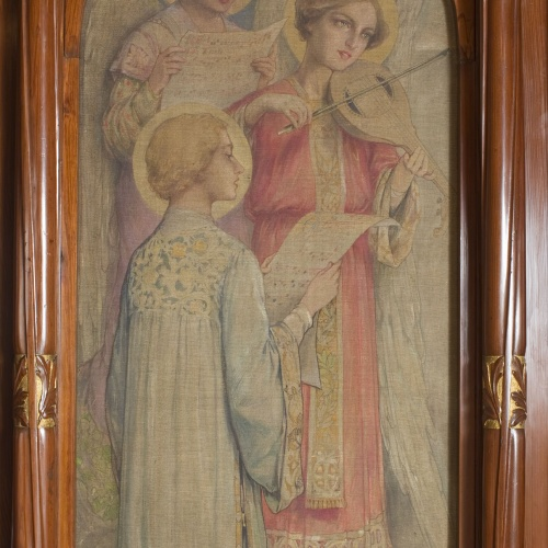 Joan Busquets - 'Sancta Maria' side painting from the Cendoya chapel - 1905