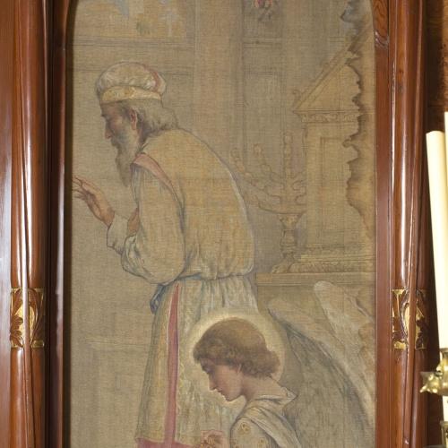 Joan Busquets - «Rosa Mística» pintura lateral de l'oratori Cendoya - 1905