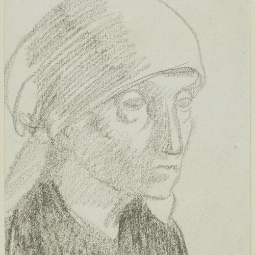 Juli González - Mère de l'artiste en paysanne nº 7 (Mare de l'artista com a camperola núm. 7) - Cap a 1926-1927