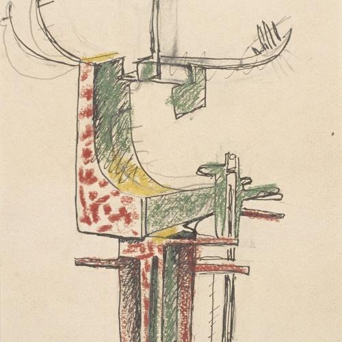 Juli González - Estudi d'home abstracte (Étude d'homme abstrait) - Cap a 1939-1940