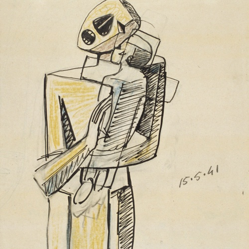 Juli González - Maternitat del nen a la creu (Maternité a l'enfant à la croix) - 1941