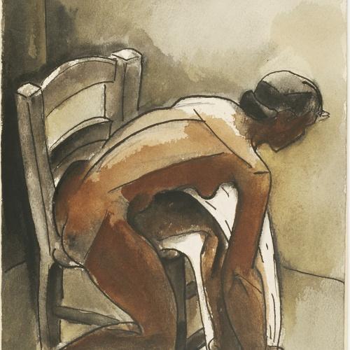 Juli González - Noia que es renta (Jeune femme se lavant) - 1940