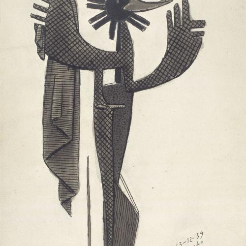 Juli González - Dona abstracta quadriculada (Femme abstraite quadrillée) - 18 de gener de 1940