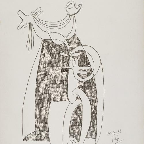 Juli González - Personatge de la capa (Personnage à la cape) - 1939