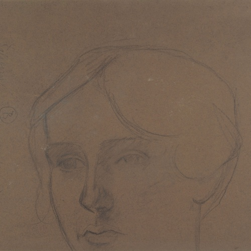 Juli González - Camperola i nena (Paysanne et fillette) (anvers) / Cap femení (revers) - Cap a 1919-1920 [1]