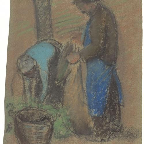 Juli González - La recol·lecció de pomes (Le ramassage de pommes) - Cap a 1919-1920
