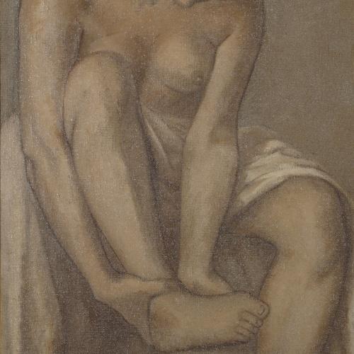 Juli González - Dona rentant-se - Cap a 1912-1913