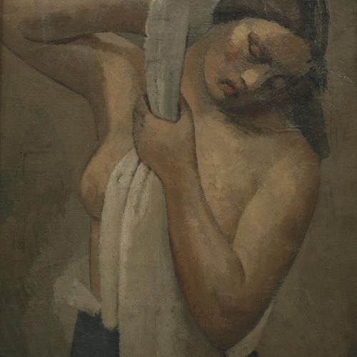 Juli González - Noia rentant-se - Cap a 1920-1926