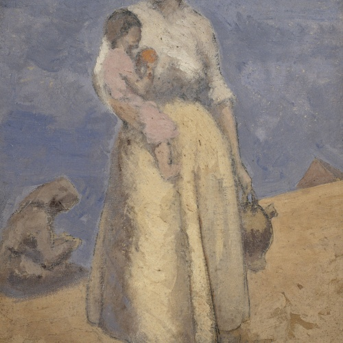 Juli González - Woman and Child in Front of the Sea - Circa 1910-1914