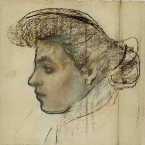 Juli González - Profil de jeune fille au chignon (Perfil de noia amb castanya) - Cap a 1900-1904