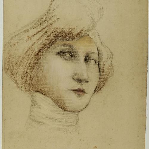 Juli González - Retrat de noia orgullosa - Cap a 1910-1914