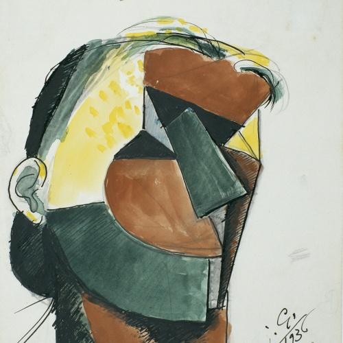 Juli González - Cara acolorida (Visage coloré) - 1936