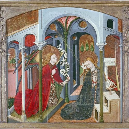 Anònim. Aragó - Anunciació - Cap a 1450