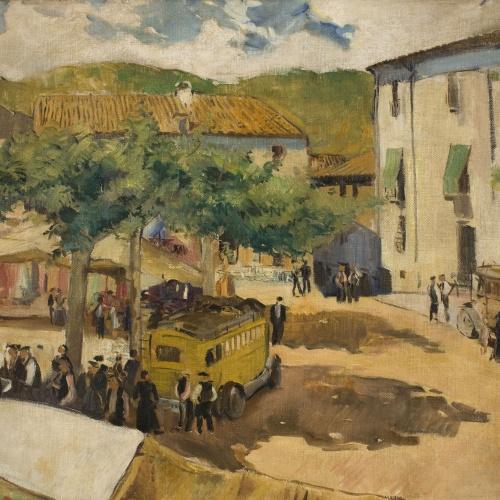 Oleguer Junyent - Santa Coloma. El mercat - 1933