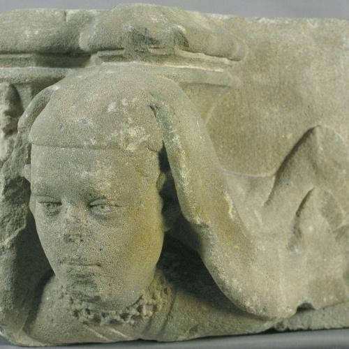 Marc Safont - Mènsula amb cap de dona - Cap a 1425
