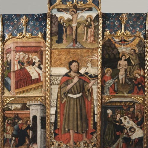 Anònim. Aragó - Altarpiece of Saint John the Baptist - Third quarter of 15th century