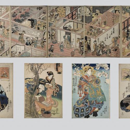 Utagawa Kunisada (Toyokuni III) - Ukiyo-e (album with seventy pictures) - End of the 18th century – mid-19th century
