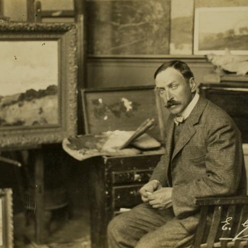 Francesc Serra Dimas - Retrat d'Enric Galwey al seu taller - 1904