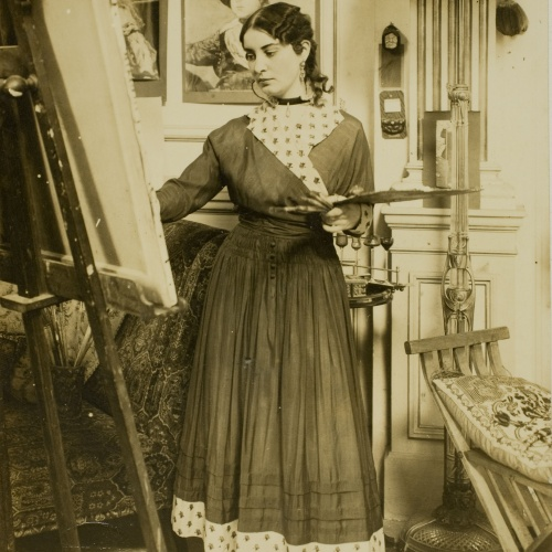 Francesc Serra Dimas - Retrat d'Irene Narezo al seu taller - 1904