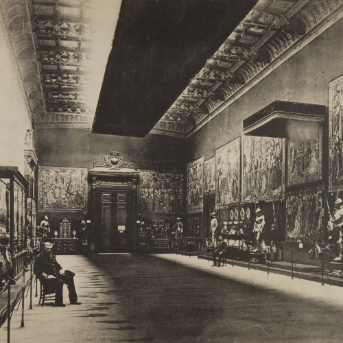 Pau Audouard - Palau de Belles Arts [of Barcelona]: Installation of the Royal Household - 1888
