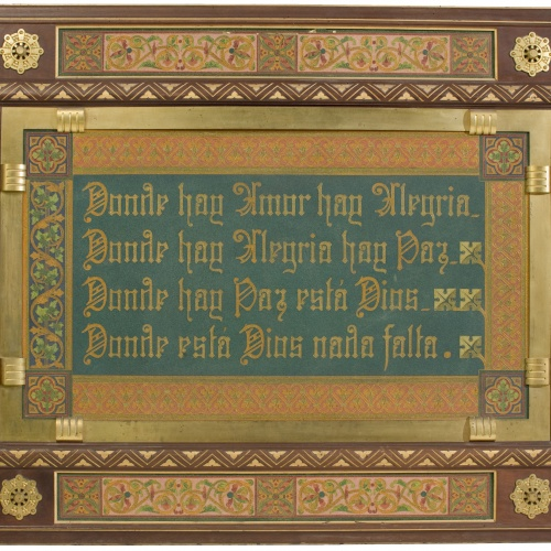 Frederic Vidal - Inscribed panel - Circa 1900