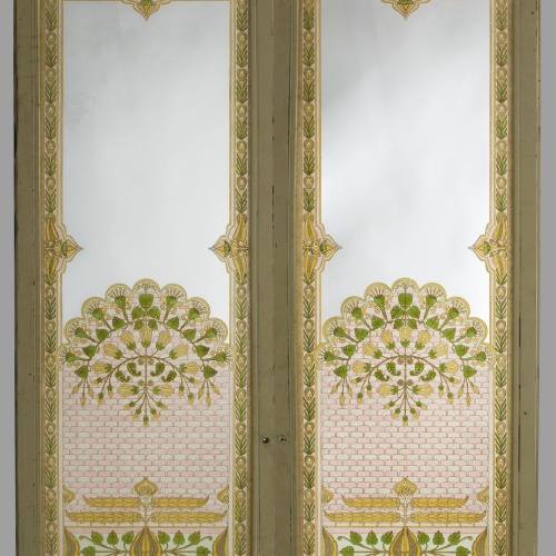 Frederic Vidal - Two-leafed glass door with transom - Circa 1900