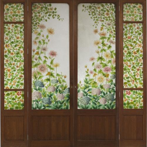 Frederic Vidal - Four-leafed glass door - Circa 1900