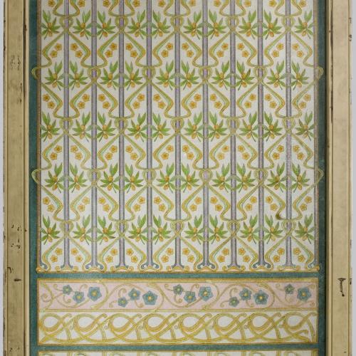 Frederic Vidal - Glass door - Circa 1900