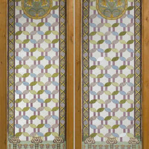 Frederic Vidal - Two-leafed glass door - Circa 1900