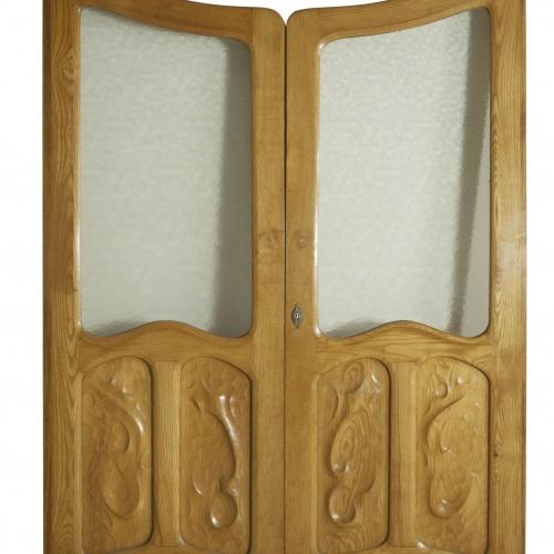 Antoni Gaudí - Double glass door - Circa 1906