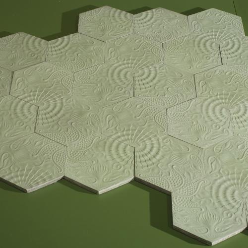 Antoni Gaudí - Floor tiles for Casa Milà: octopus, snail and starfish - Circa 1904-1906
