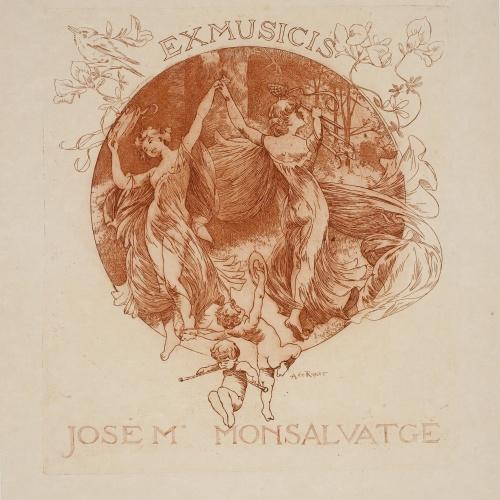 Alexandre de Riquer - Ex-musicis José Mª Monsalvatge - 1904