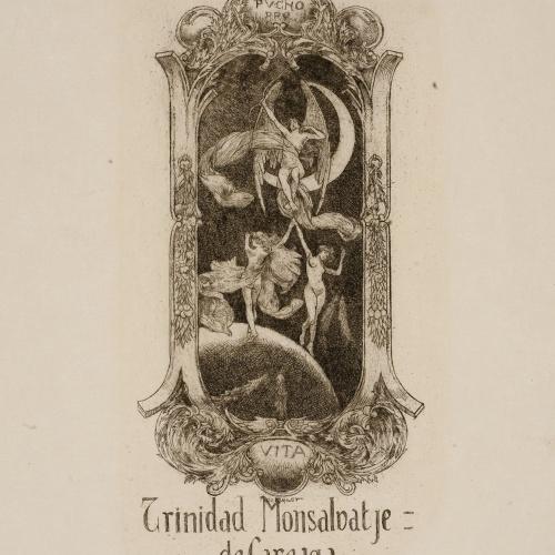 Alexandre de Riquer - Ex-libris Trinidad Monsalvatje de Careaga - Cap a 1900-1910