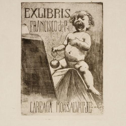 Alexandre de Riquer - Ex-libris Francisco de P. de Careaga Monsalvatje - Cap a 1900-1910