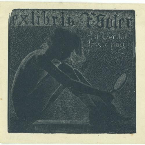 Alexandre de Riquer - Ex-libris F. Soler - 1902
