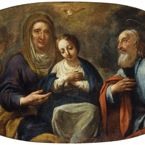 Antoni Viladomat - Child Virgin between Saint Joachim and Saint Anne - Between 1720-1730