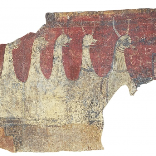Mestre de Boí - Torre i bèstia apocalíptica de Sant Joan de Boí - Cap a 1100 [1]