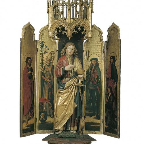 Anònim. Països Baixos meridionals - Políptic de sant Joan Evangelista - Cap a 1480-1490