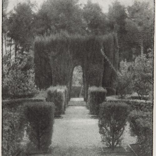 Joaquim Pla Janini - El jardín de la fábrica Guarro (The Garden of the Guarro Factory) - Undated