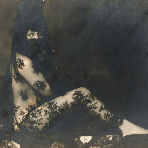 Josep Masana - Untitled [Seated Maja with Mantilla] - Between 1920-1940