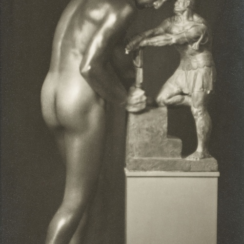 Josep Masana - Untitled [Study of nude with sculpture] - Between 1920-1940