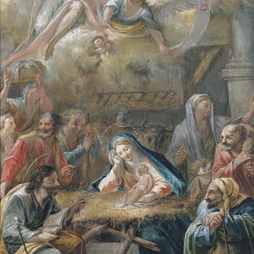 """Francesc Pla Duran dit """"El Vigatà"""" - Naixement de Jesús i Adoració dels pastors - Cap a 1780"""