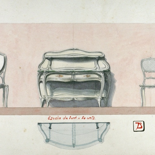 Joan Busquets - Bufet i cadires - 1901