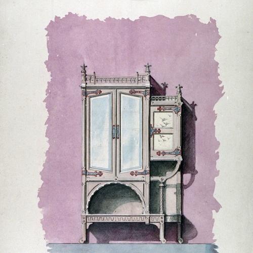Joan Busquets - Armari vitrina - 1900