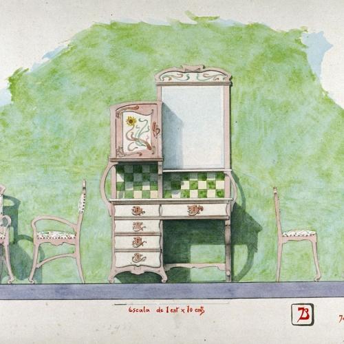 Joan Busquets - Bufet i cadires - 1900