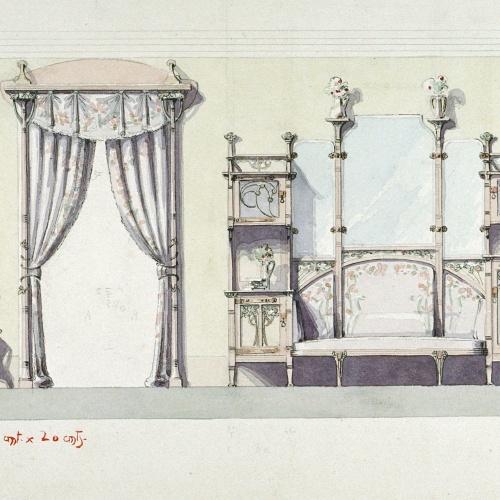 Joan Busquets - Mobles i cortinatge - 1903